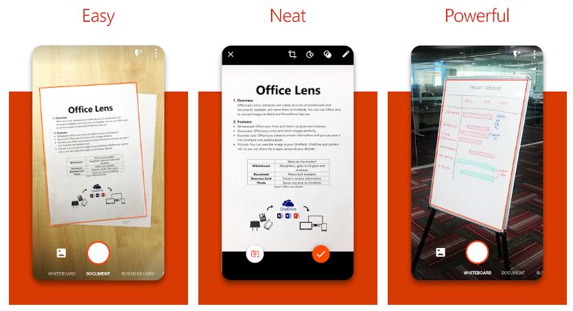 Microsoft Office Lens - PDF Scanner - Top-10-CamScanner-Alternatives-Best-PDF-scanning-app