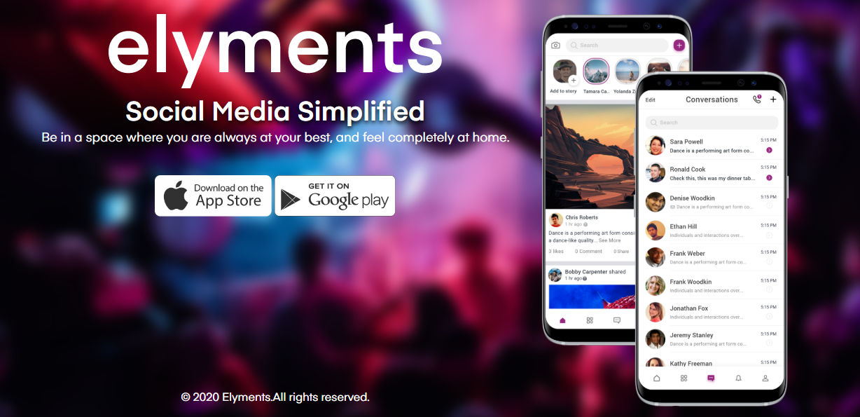 Elyments-the new social media app 2020 – Indian alternative to Facebook