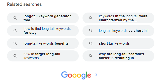 How to Find Long Tail Keywords - Beginners Guide Google Related Searches on Bottom Search Page