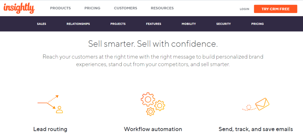 Insightly CRM and eMail Automation Sales and Marketing