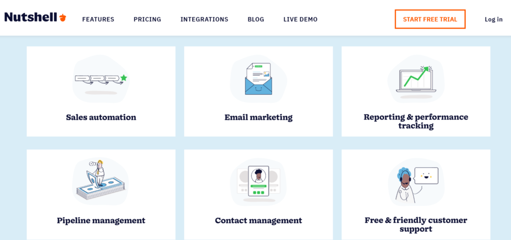 Nutshell CRM and eMail Automation Features